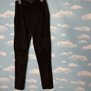 BCBGMAXAZRIA- Black Suede Pants size small
